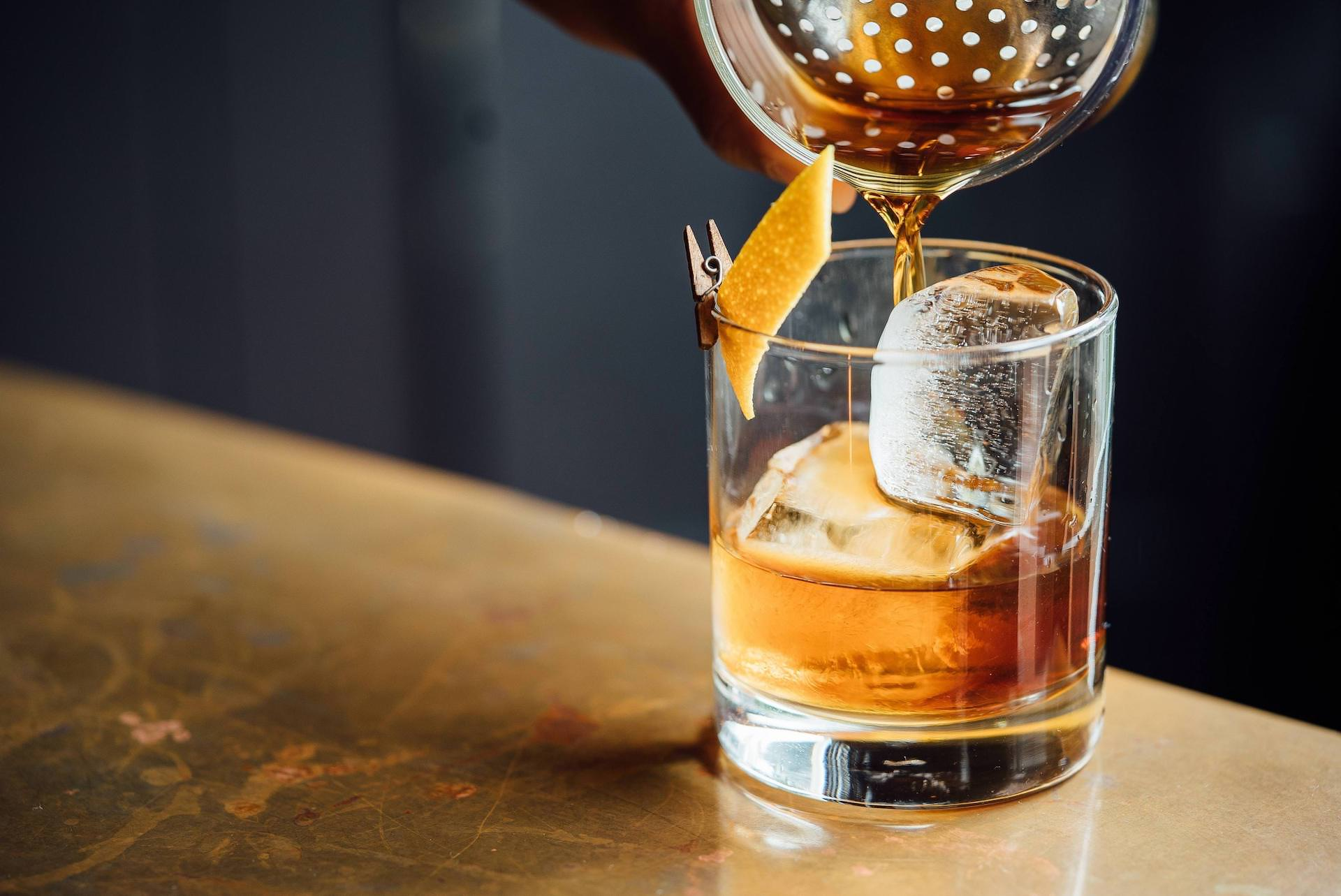 Pouring an Americano Cocktail