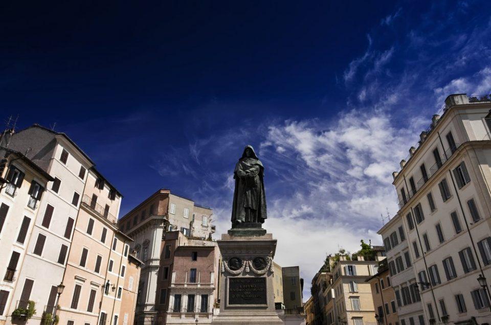 Campo de Fiori: Statue of Giordano Bruno