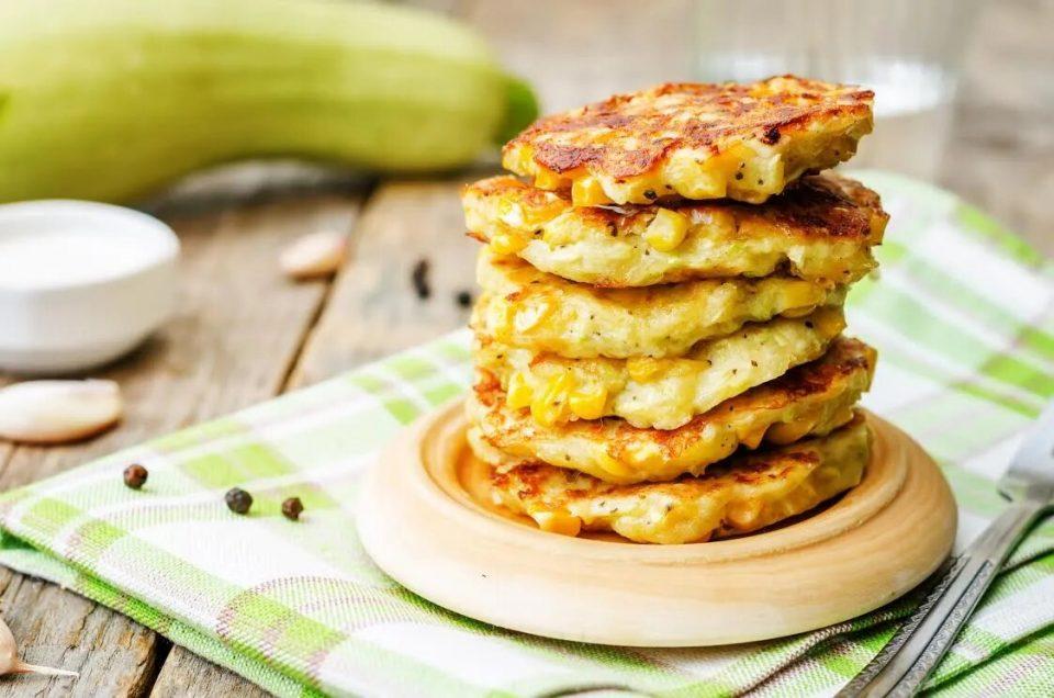 Stack of Zucchini Pancakes