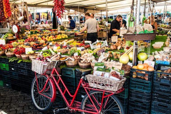 Farmers' Market at Campo Di Fiori